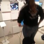 Marina bezwingt stilvoll die Tanzmatte